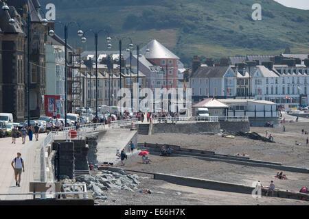 Aberystwyth, Pays de Galles, Royaume-Uni. 24 juillet, 2014. 11-après la promenade animée: 6 MOIS APRÈS LA TEMPÊTE. Banque D'Images