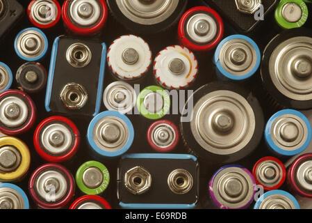 Batterie,énergie,pôle positif Banque D'Images