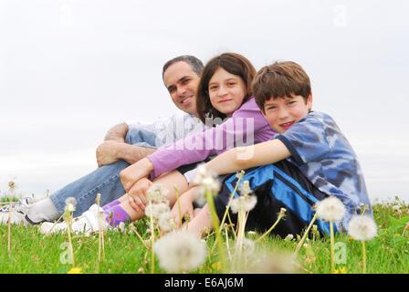 Père,enfant,famille,togetherness Banque D'Images