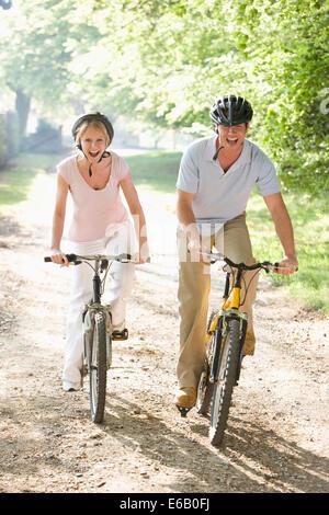 Les cyclistes,randonnée à vélo Banque D'Images