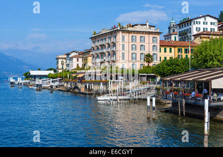 L'hôtel historique F. Camarca / Metropole Bellagio Hôtel et au bord de l'eau à Bellagio, Lac de Côme, Lombardie, Banque D'Images