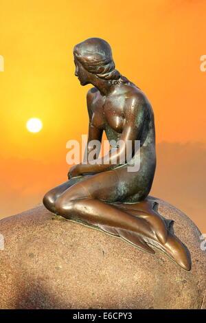 La Statue de la Petite Sirène, Copenhague, Danemark Banque D'Images