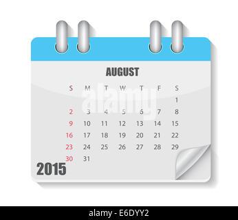 L'année 2015 du calendrier. Vector Illustration
