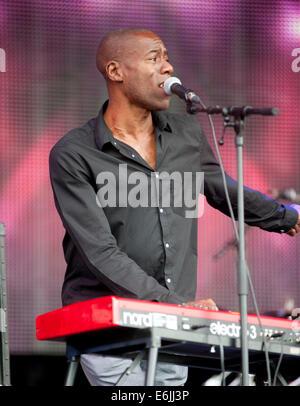 Retour rapide au sud 80s Festival à l'île de Temple Meadows le 17 août 2014 à Henley-on-Thames, Royaume-Uni Banque D'Images