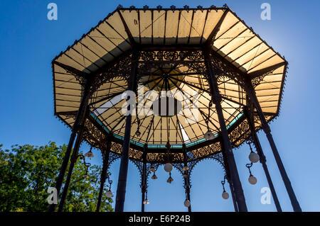 Toit en pavillon Bellini Park, Catania Banque D'Images