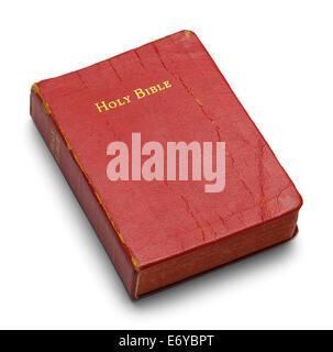 Bien utilisés avec Bible Pages rouge isolé sur fond blanc.