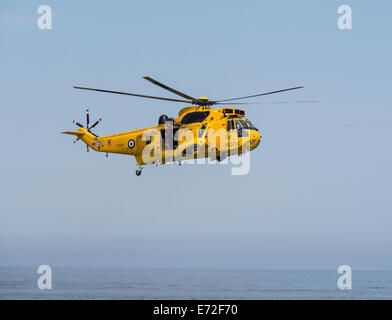 Raf de sauvetage air-mer hélicoptère Sea King Banque D'Images