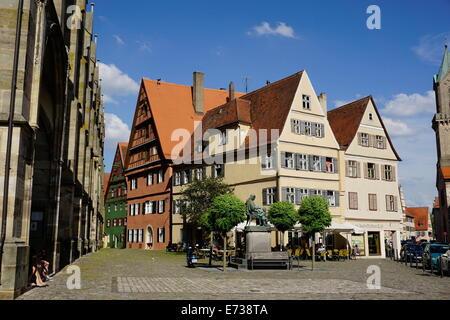 Dinkelsbuhl, Route Romantique, Franconia, Bavaria, Germany, Europe Banque D'Images