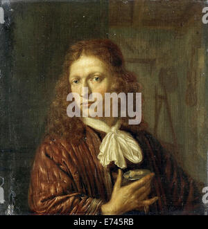 Self Portrait - par Jan van Haensbergen, 1660 - 1680 Banque D'Images