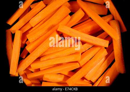 Bâtonnets de carottes fraîches Banque D'Images