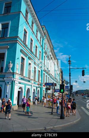 Nevsky Prospect, main street, Saint Petersburg, Russie, Europe Banque D'Images