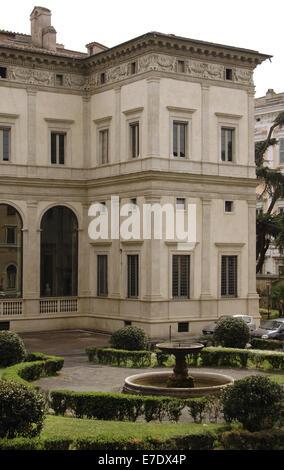 L'Italie. Rome. Villa Farnesina. Construit par Baldassare Peruzzi (1481-1536), 1506-1510. De l'extérieur. Banque D'Images