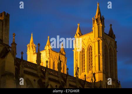 Courts de tours de cathédrale de l'église de la Sainte et indivisible Trinité, Bristol, Angleterre