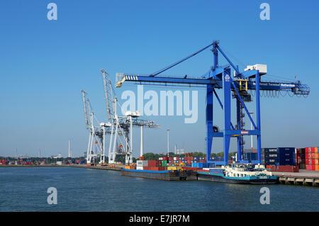 Rotterdam, Pays-Bas: le port de Rotterdam est le troisième plus grand port du monde Banque D'Images