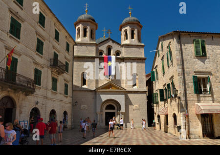 Eglise Saint-Nicolas la vieille ville de Kotor, Monténégro Banque D'Images