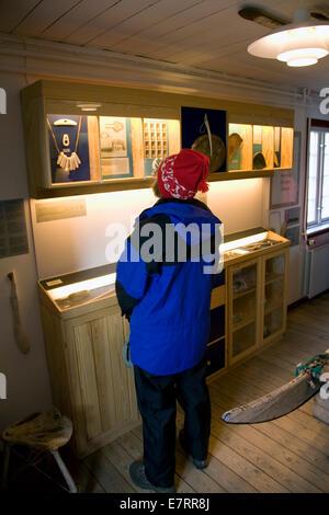 Musée dans la maison du Groenland 1910 du plus célèbre explorateur de l'Arctique, Knud Rasmussen à Qaanaaq, Groenland, Banque D'Images