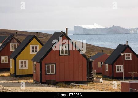 Qaanaaq (aussi connu comme 'nouveau') Thule, au Groenland, l'Arctique Banque D'Images