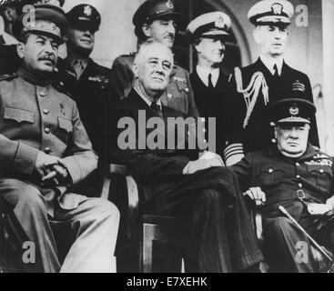 Nov 29, 1943 - Téhéran, Iran - rencontre historique entre le Secrétaire Général du Parti communiste Joseph Staline, Banque D'Images