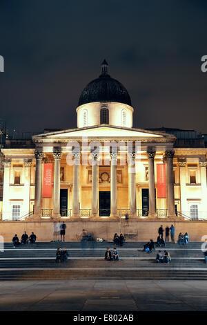 Londres, UK - OCT 27: National Gallery à Trafalgar square, le 27 septembre 2013 à Londres, au Royaume-Uni. Londres Banque D'Images