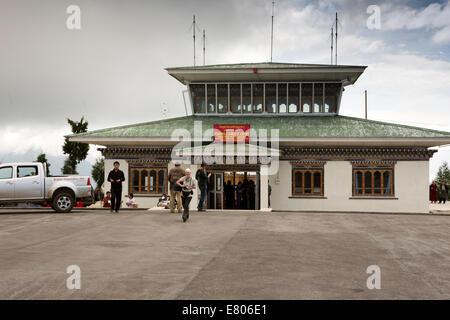 L'est du Bhoutan, Yongphula, aérogare l'aéroport domestique de passagers, Banque D'Images