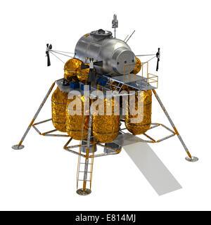 Lunar Lander. Modèle 3D. Banque D'Images