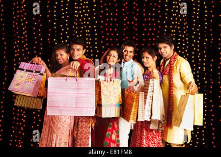 Amis indiens diwali Festival Shopping