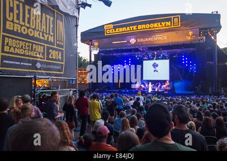Célébrer Brooklyn New York concerts Banque D'Images