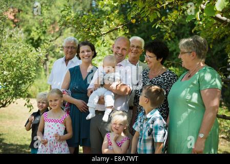 Portrait de famille de multi-generation family Banque D'Images