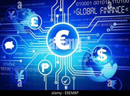 Finance mondiale Banque D'Images