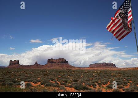 Monument Valley Navajo Tribal Park, Arizona, États-Unis Banque D'Images