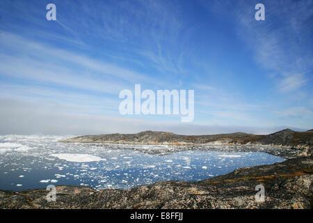 Icebergs dans la baie de Disko, Ilulissat, Groenland.