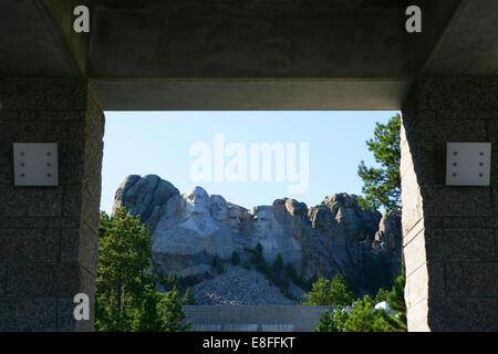 Mount Rushmore National Memorial, le Dakota du Sud, Amérique latine, USA Banque D'Images