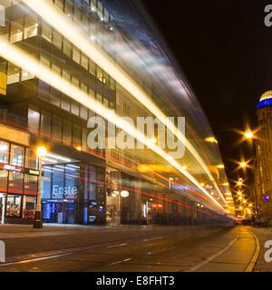 La Croatie, le Croate street at night Banque D'Images