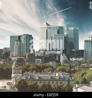 Royaume-uni, Angleterre, Londres, Canary Wharf, paysage urbain Banque D'Images