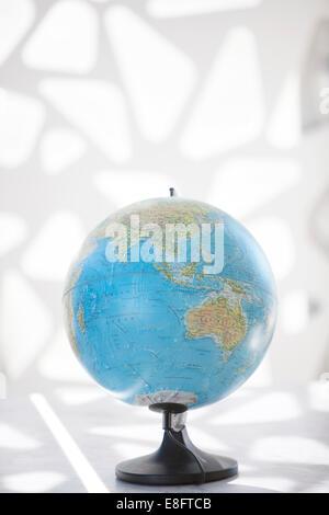 Globe montrant l'Asie et l'Australie Banque D'Images