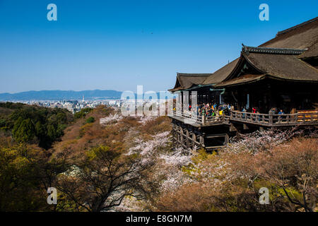 Le Temple Kiyomizu-dera, UNESCO World Heritage Site, Kyoto, Japon Banque D'Images