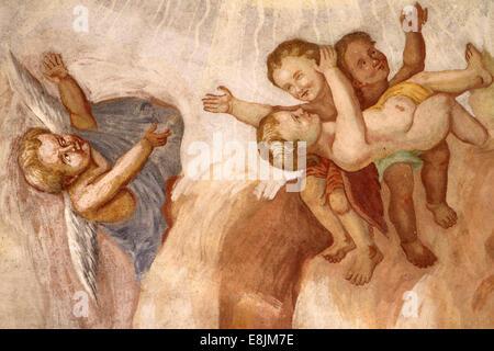Des anges. Notre Dame de l'assomption l'église. Banque D'Images
