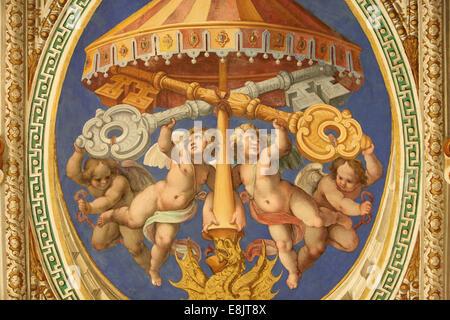Des anges. Musée du Vatican. Banque D'Images