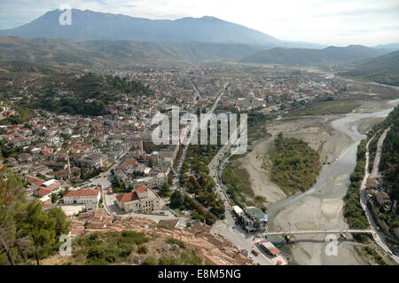 Vues de Berat dans le sud de l'Albanie, site du patrimoine mondial