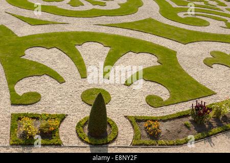 Apeldoorn, Gueldre, Pays-Bas: Vue détaillée du Jardin du Roi au Paleis Het Loo ( Les bois Palace ).