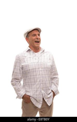 Caucasian man smiling Banque D'Images
