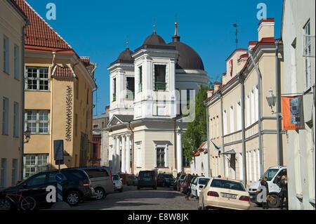 Eglise orthodoxe russe de Saint Nicolas le thaumaturge, centre historique, Tallinn, Estonie, Pays Baltes Banque D'Images