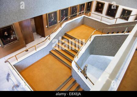 Intérieur du Collège royal des médecins - Londres, Angleterre Banque D'Images