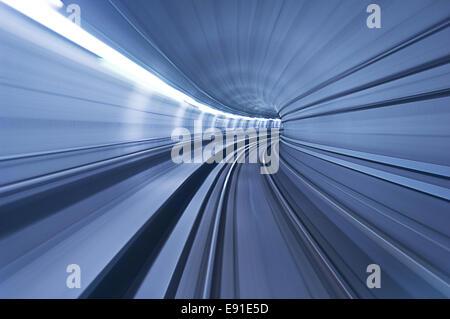 Tunnel de métro à vitesse élevée Banque D'Images