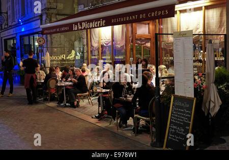 Restaurant à Chartres, France Banque D'Images