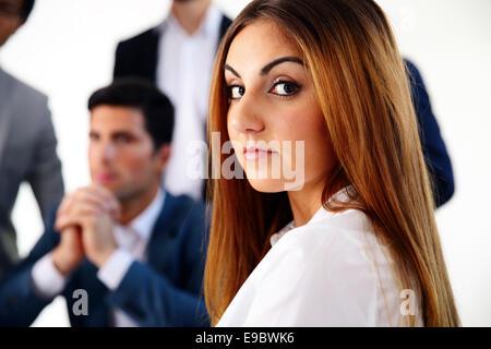 Portrait of beautiful happy businesswoman Banque D'Images