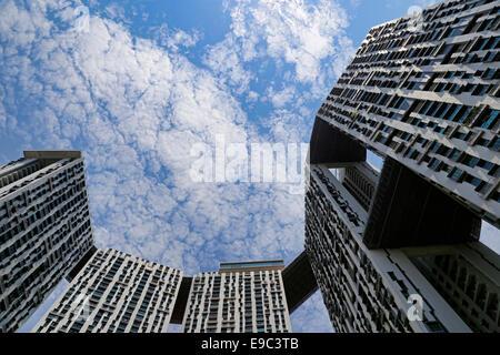 Pinnacle@Duxton projet domiciliaire de Tanjong Pagar, Singapore Banque D'Images
