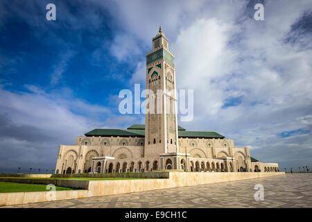 Casablanca, Maroc à la Mosquée Hassan II. Banque D'Images