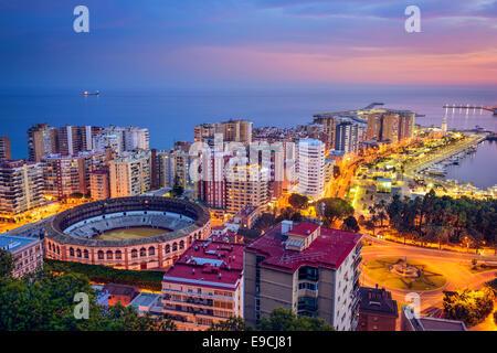 Malaga, Espagne cityscape à l'arène. Banque D'Images