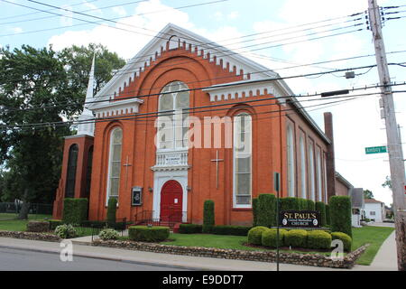 St Paul's United Methodist Church, construite en 1883 à Tottenville, Staten Island, New York Banque D'Images